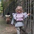 Sac à dos paillette Rose avec ailes de papillon - Caramel et Cie