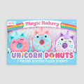 3 gommes licorne donut kawaii parfumées - Unicorn donuts