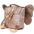 Sac à dos paillette Cuivre avec ailes de papillon - Caramel et Cie