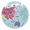 Puzzle 208 pièces Recto Verso - Le Monde/Ma planète - Janod