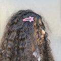 Grande barrette cheveux étoile - Rose shabby chic