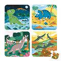 Valisette de 4 puzzles évolutifs enfants - Dinosaures