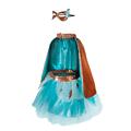 Déguisement fille Superheros Bleu et Or - 4/7 ans