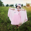 Déguisement fille Robe de Princesse Rose - 5/6 ans