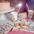 8 gobelets en papier anniversaire Superheros