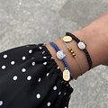 Bracelet porte bonheur japonais Chat Maneki Neko - Bleu