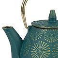 Théière en fonte haute avec filtre Lotus Emeraude - 1L - SEMA Design