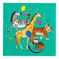 Serviette en papier animaux Safari - Lot de 20