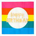 Serviette en papier Happy Birthday Arc en Ciel - Lot de 20