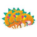 Serviette en papier découpe Dinosaure - Lot de 16