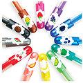 "12 stylos gel paillette parfumés ""Yummy"""
