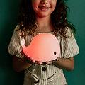 Petite veilleuse tactile rechargeable en silicone souple - Baleine