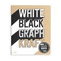Cahier de dessins Paper Works - Papier blanc, noir, graphique et kraft