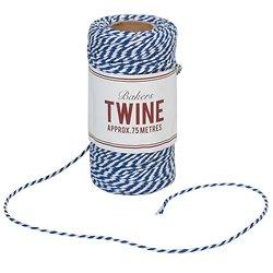 Ficelle bicolore bleu marine et blanche Bakers Twine