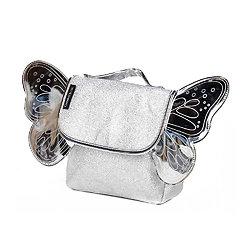 Sac à dos paillette Argent avec ailes de papillon - Caramel et Cie