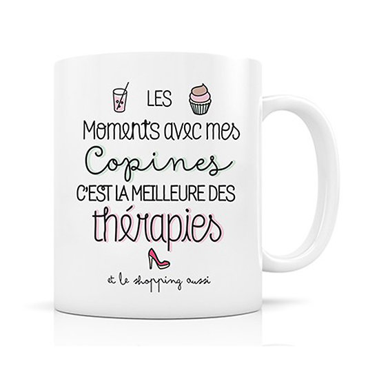 Mug porcelaine Therapie copines