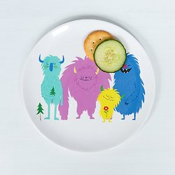 Assiette mélamine Petits Monstres