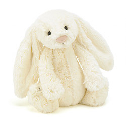 Peluche Jellycat lapin cream – Bashful cream bunny – Medium BAS3BC 31cm