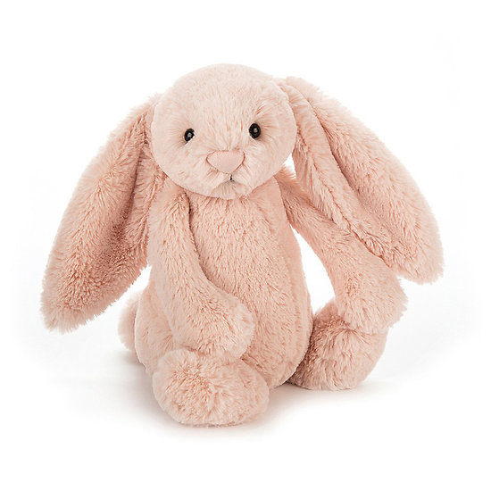 Peluche Jellycat lapin blush – Bashful blush bunny – Medium BAS3BLU 31cm