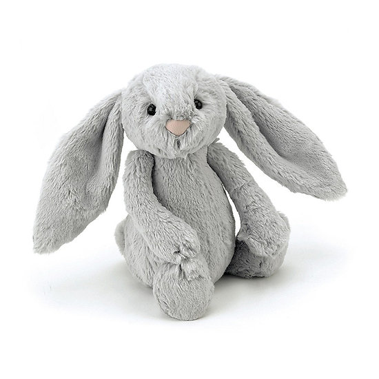 Peluche Jellycat lapin silver – Bashful silver bunny – Small BASS6BS 18cm