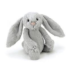 Peluche Jellycat lapin silver – Bashful silver bunny – Medium BAS3BS 31cm