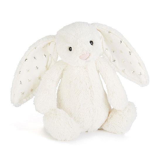 Peluche Jellycat lapin twinkle – Bashful twinkle bunny – Medium BAS3TW 31cm