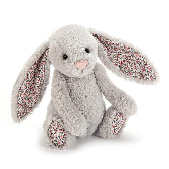Peluche Jellycat lapin silver – Blossom silver bunny – Medium BL3BSN 31cm