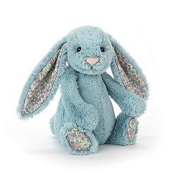 Peluche Jellycat lapin aqua – Blossom aqua bunny – Small BL6AQ 18cm