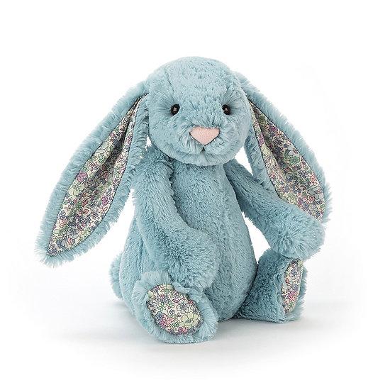 Peluche Jellycat lapin aqua – Blossom aqua bunny – Medium BL3AQ 31cm