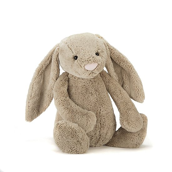 Peluche Jellycat lapin beige géant – Bashful beige bunny – Huge BAH2BN 51cm