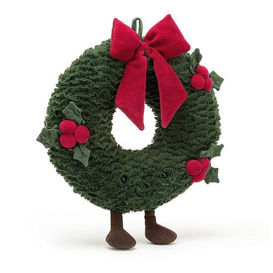 Peluche Jellycat Couronne de Noel - Amuseable Wreath - A2WRE 35 cm