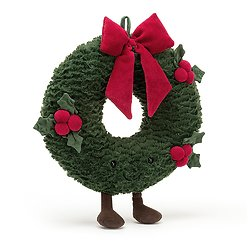 Peluche Jellycat Couronne de Noel - Amuseable Wreath - A2WRE 35 cm