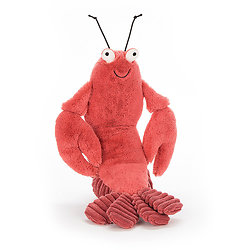 Peluche Jellycat Homard – Larry Lobster - Medium 27 cm - LOB6LS