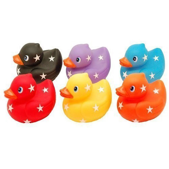 Lot 6 canards de bain