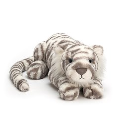 Peluche Jellycat Sacha tigre des neiges – Sacha tiger snow – Little SAC4T 8x29cm
