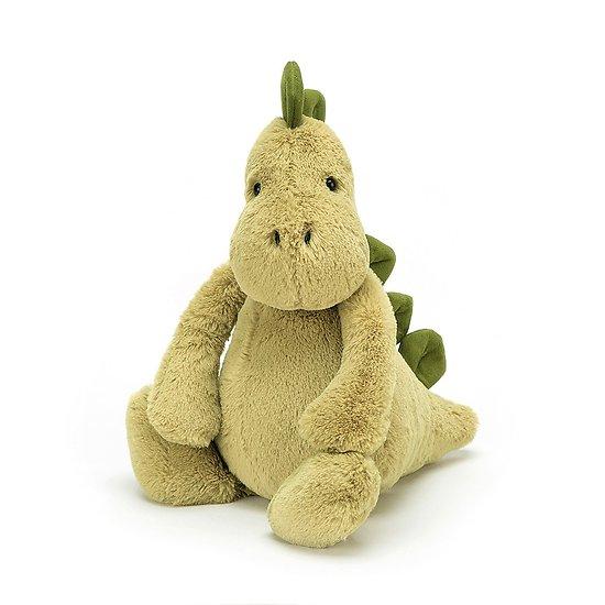 Peluche Jellycat Dino – Bashful Dino - Medium BAS3DNO 31cm