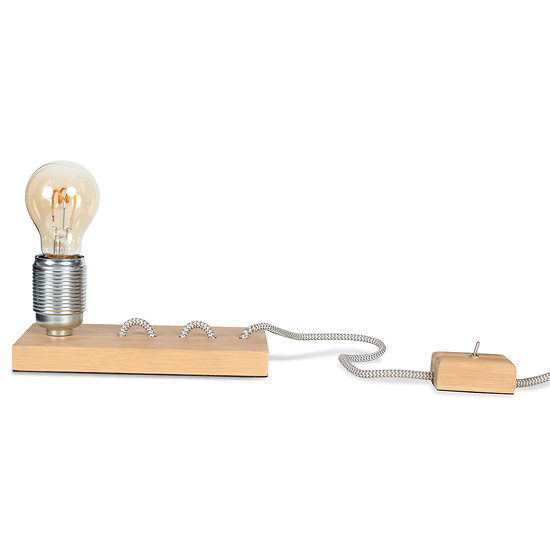 Lampe Bambou Cable Apparent