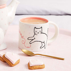 Mug Chat feline good - Porcelaine