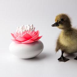 Distributeur de coton tige Lotus rose et blanc