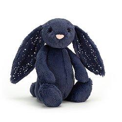 Peluche Jellycat lapin Bleu Etoile – Bashful Stardust bunny – Medium BAS3SD 31cm