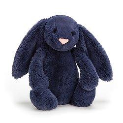 Peluche Jellycat lapin bleu marine - Blashful navy bunny - Small BASS6NB 18cm