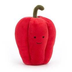 Peluche Jellycat Légume Piment– Vivacious Vegetable Pepper - VV6P - 12 cm