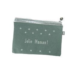 Trousse tissus brodée - Jolie Maman