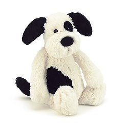 Peluche Jellycat chien – Bashful Black and Cream Puppy – Medium BAS3BCP 31 cm