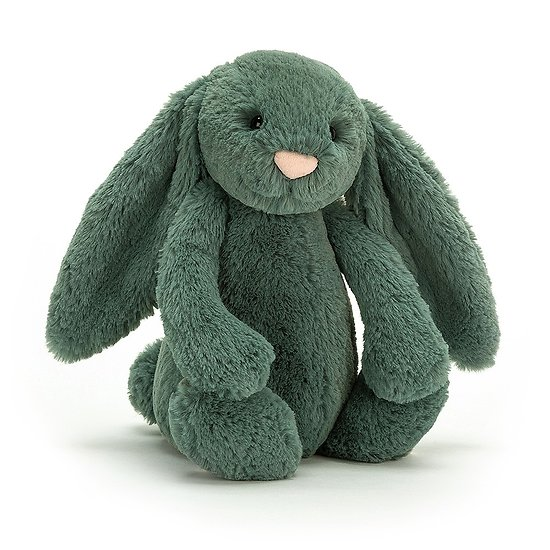Peluche Jellycat lapin  – Bashful forest bunny – Medium BAS3FB 31 cm
