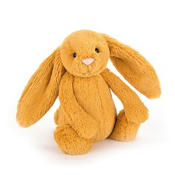 Peluche Jellycat lapin  – Bashful saffron bunny – Medium BAS3SF 31 cm