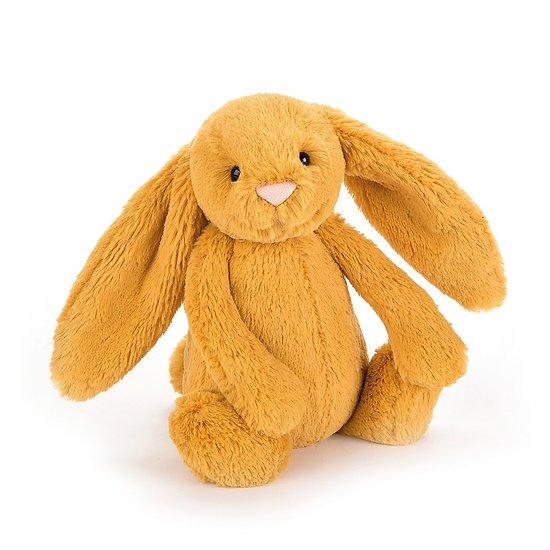 Peluche Jellycat lapin  - Bashful saffron bunny - Small BASS6SF 18 cm