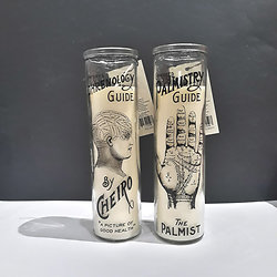 Bougies Phrenologie et Palmistry - Lot de 2 - Temerity Jones