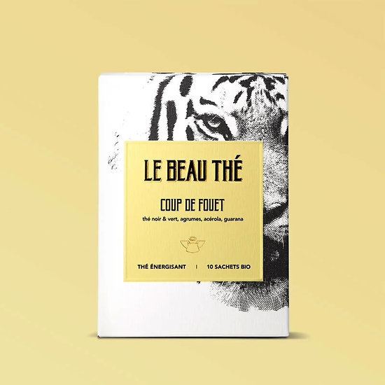 Coup de fouet - Thé énergisant aux agrumes bio - Tigre - Made in France