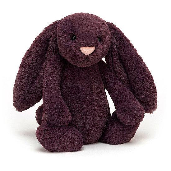 Peluche Jellycat lapin violet – Bashful plum bunny – Medium BAS3PLUM 31cm